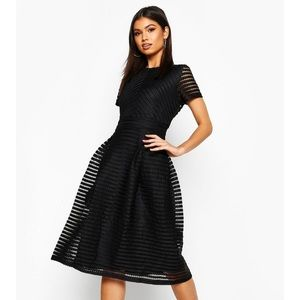 Black midi skater dress!
